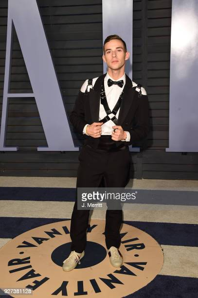Adam Rippon attends the 2018 Vanity Fair Oscar Party hosted by Radhika Jones at the Wallis Annenberg Center for the Performing Arts on March 4, 2018...