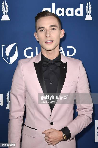 Adam Rippon attends the 29th Annual GLAAD Media Awards - Arrivals at The Beverly Hilton Hotel on April 12, 2018 in Beverly Hills, California.