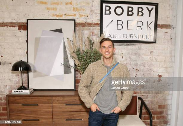 Adam Rippon attends the Bobby Berk's A.R.T. Furniture Launch Event on November 05, 2019 in Los Angeles, California.