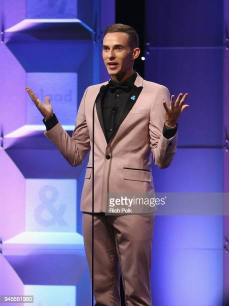 Adam Rippon celebrates achievements in LGBTQ community at the 29th Annual GLAAD Media Awards Los Angeles in partnership with LGBTQ ally Ketel One...
