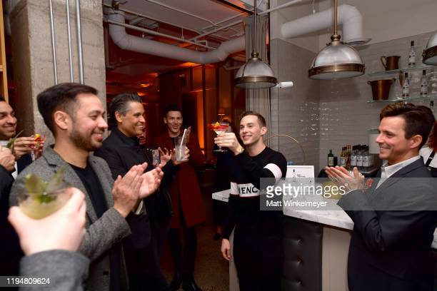 Adam Rippon celebrates Adam Rippon's 'Break The Ice' wrap party hosted by Ketel One Family Made Vodka and Portal A at Hills Penthouse on December 18...