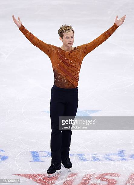 Adam Rippon competes in the free skate program during the 2014 Prudential US Figure Skating Championships at TD Garden on January 12 2014 in Boston...