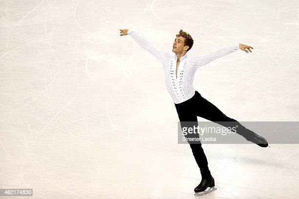 Adam Rippon competes in the Men's Free Skate Program Competition during day 4 of the 2015 Prudential US Figure Skating Championships at Greensboro...