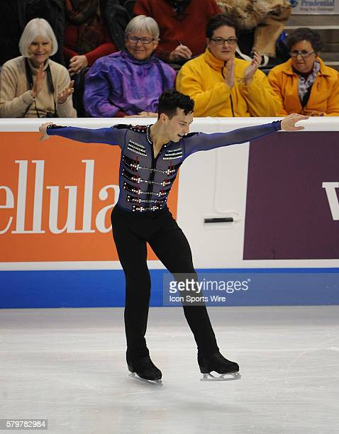 Adam Rippon competes in the men's Free Skate Program during the Prudential U.S. Figure Skating Championships at the Xcel Energy Center in St. Paul,...