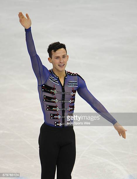 JANUARY 24 2016 Adam Rippon competes in the men's Free Skate Program during the Prudential US Figure Skating Championships at the Xcel Energy Center...