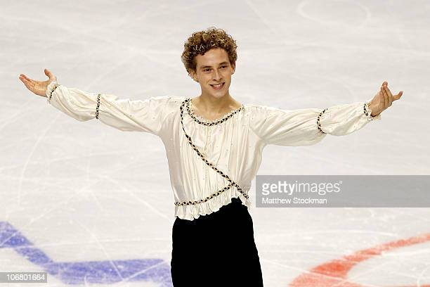 Adam Rippon competes in the Short Program during Skate America at Rose Garden Arena on November 12 2010 in Portland Oregon