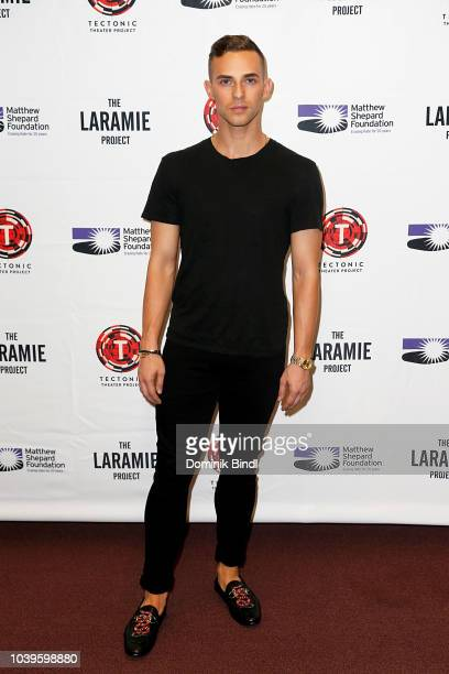 Andy Paris and Purva Bedi during the 'Laramie A Legacy' A Reading Of The Laramie Project at Gerald W Lynch Theater on September 24 2018 in New York...