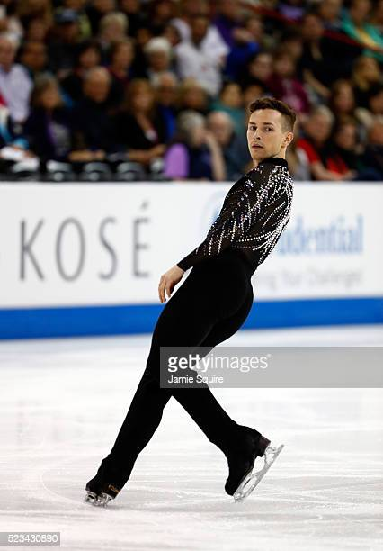 Adam Rippon of Team North America competes in the Men's Singles Short Program on day 1 of the KOSE Team Challenge at Spokane Arena on April 22 2016...