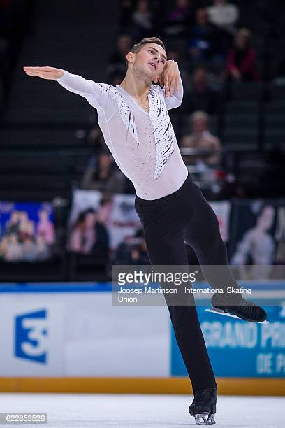Adam Rippon of the United States competes during Men's Free Skating on day two of the Trophee de France ISU Grand Prix of Figure Skating at...