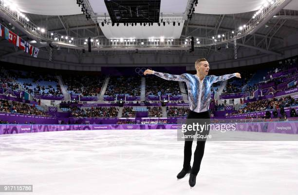 Adam Rippon of the United States competes in the Figure Skating Team Event – Men's Single Free Skating on day three of the PyeongChang 2018 Winter...