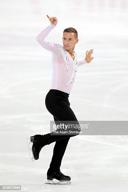 Adam Rippon of the United States competes in the Senior Men's Singles Free Skating during day three of the ISU Junior Senior Grand Prix of Figure...