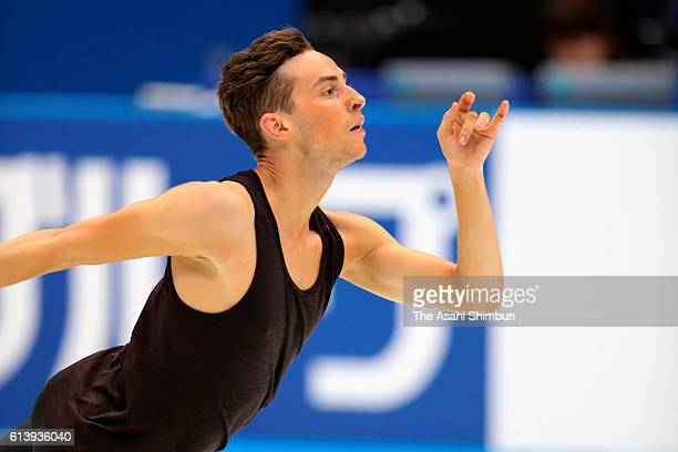 Adam Rippon of the United States in action during a training session ahead of the figure skate Japan Open 2016 at the Saitama Super Arena on...