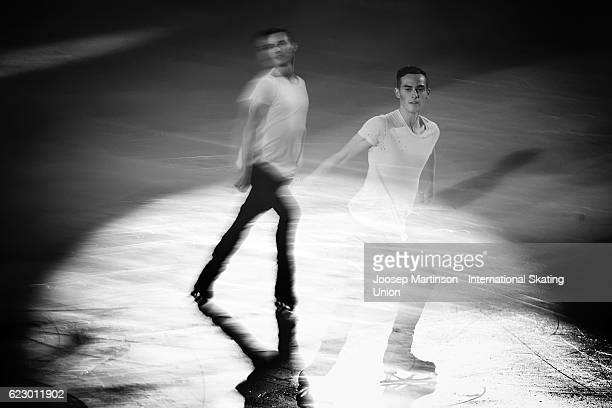 Adam Rippon of the United States performs during Gala Exhibition on day three of the Trophee de France ISU Grand Prix of Figure Skating at...