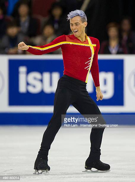 Adam Rippon of the United States skates during the Men Free Skate on day two of Skate Canada International ISU Grand Prix of Figure Skating, October...