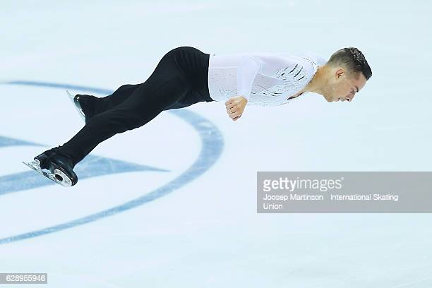 Adam Rippon of United States competes during Senior Men's Free Skating on day three of the ISU Junior and Senior Grand Prix of Figure Skating Final...