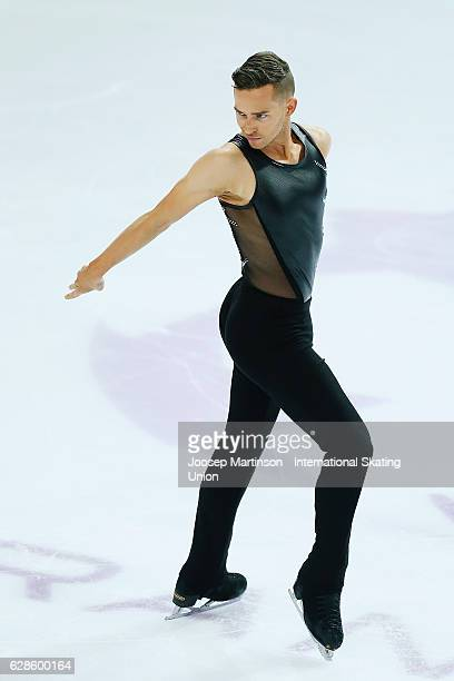 Adam Rippon of United States competes during Senior Men's Short Program on day one of the ISU Junior and Senior Grand Prix of Figure Skating Final at...