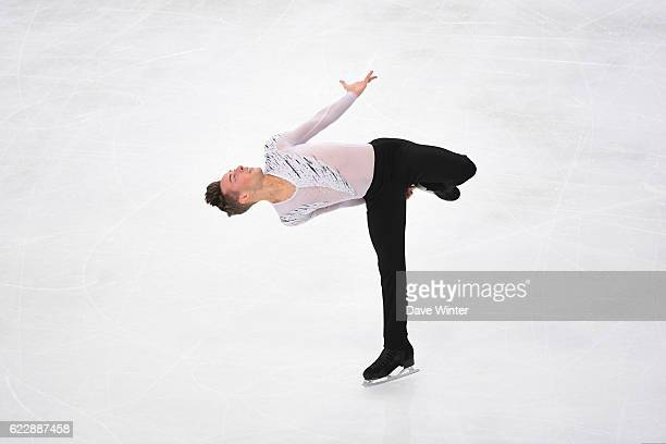 Adam Rippon of United States competes in the MenÕs Free Skating programme on day two of the ISU Grand Prix de France of Figure Skating at AccorHotels...