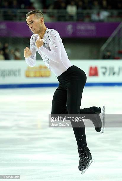 Adam Rippon of USA competes during Men's Free program on day three of the ISU Grand Prix of Figure Skating 2016 at Palais Omnisports Marseille...