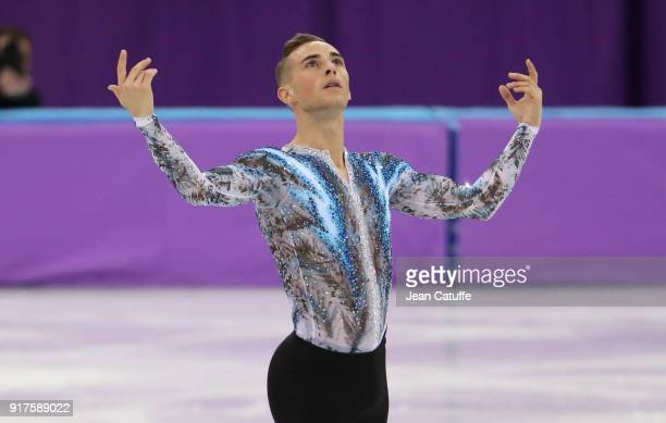 Adam Rippon of USA competes in the Men Free Skating during the Figure Skating Team Event on day three of the PyeongChang 2018 Winter Olympic Games at...