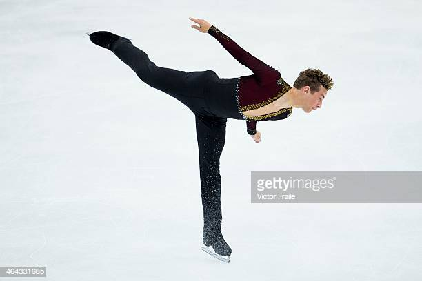 Adam Rippon of USA competes in the Men Short Program event during the Four Continents Figure Skating Championships on January 22 2014 in Taipei Taiwan