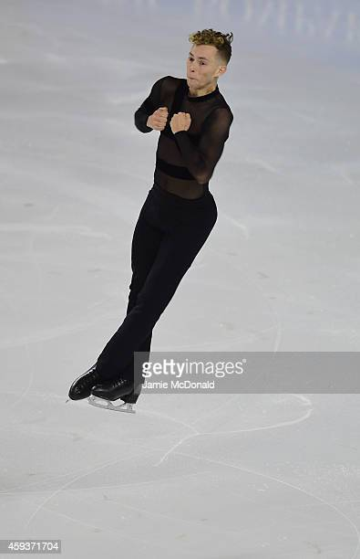 Adam Rippon of USA performs during the Mens Short program during day one of Trophee Eric Bompard ISU Grand Prix of Figure Skating at the Meriadeck...