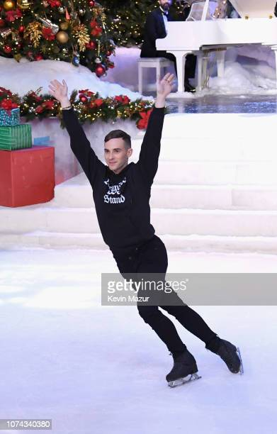 Adam Rippon performs during Full Frontal With Samantha Bee Presents Christmas On ICE at PlayStation Theater on December 17 2018 in New York City...
