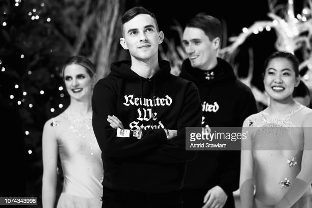 Adam Rippon performs during Full Frontal With Samantha Bee Presents Christmas On I.C.E. At PlayStation Theater on December 17, 2018 in New York City....
