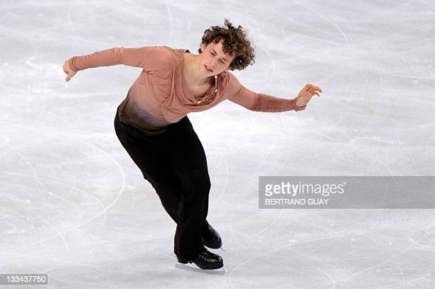 Adam Rippon performs in the Mens free skating Program during the Eric Bompard 2011 figure skating trophy on November 19, 2011 at the Bercy...