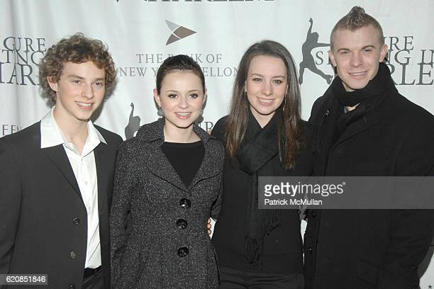 Adam Rippon Sasha Cohen Guest and Timothy Goebel attend Skating with the Stars Under the Stars at Wollman Rink on March 31 2008 in New York City
