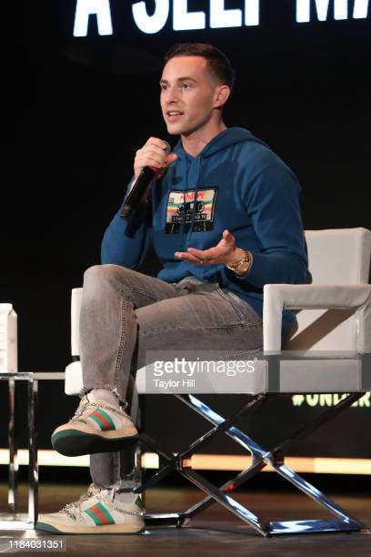 Adam Rippon speaks during the Forbes 30 Under 30 Summit at Detroit Masonic Temple on October 28, 2019 in Detroit, Michigan.