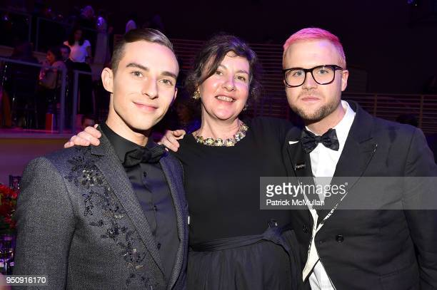 Adam Rippon Tasmin Allen and Christopher Wylie attend the 2018 TIME 100 Gala at Jazz at Lincoln Center on April 24 2018 in New York City