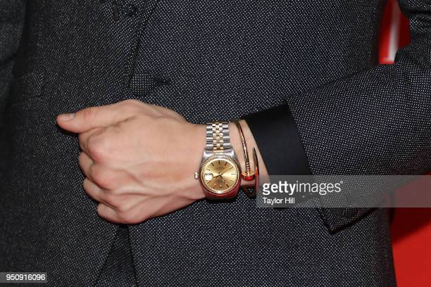 Adam Rippon watch detail attends the 2018 Time 100 Gala at Frederick P Rose Hall Jazz at Lincoln Center on April 24 2018 in New York City