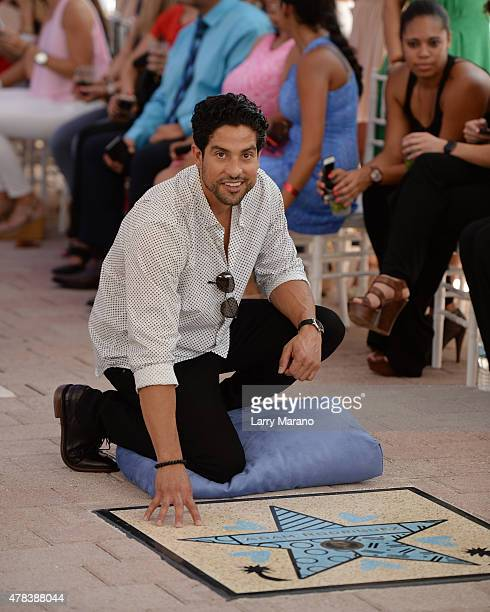 Adam Rodríguez attends Magic Mike XXL cast honored with stars on The Official Miami Walk Of Fame at Bayside Marketplace on June 24 2015 in Miami...