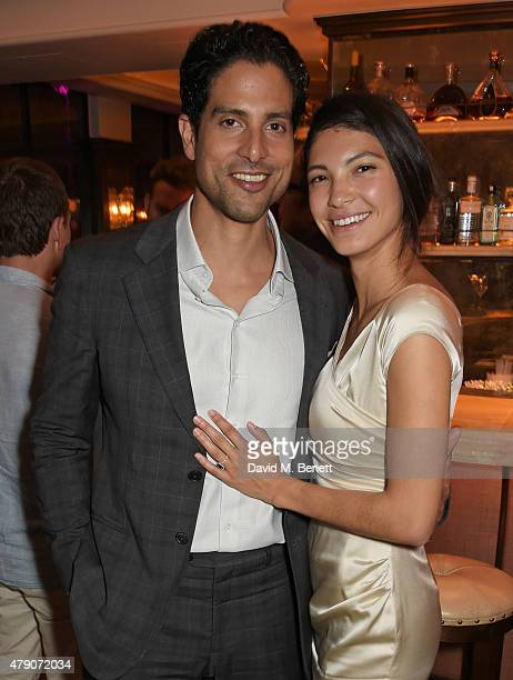 Adam Rodriguez and Grace Gail attend a postpremiere dinner for Magic Mike XXL at The Ivy on June 30 2015 in London England