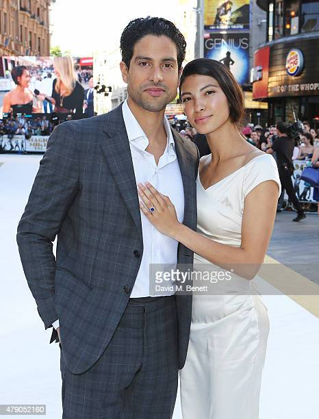 Adam Rodriguez and Grace Gail attend the UK Premiere of Magic Mike XXL at the Vue West End on June 30 2015 in London England