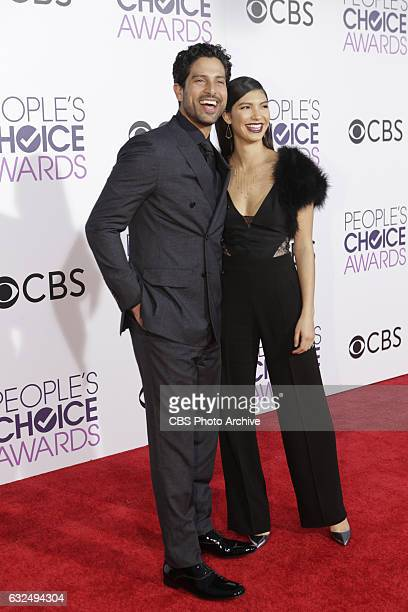 Adam Rodriguez and Grace Gail on the Red Carpet at the PEOPLE'S CHOICE AWARDS 2017 the only major awards show where fans determine the nominees and...