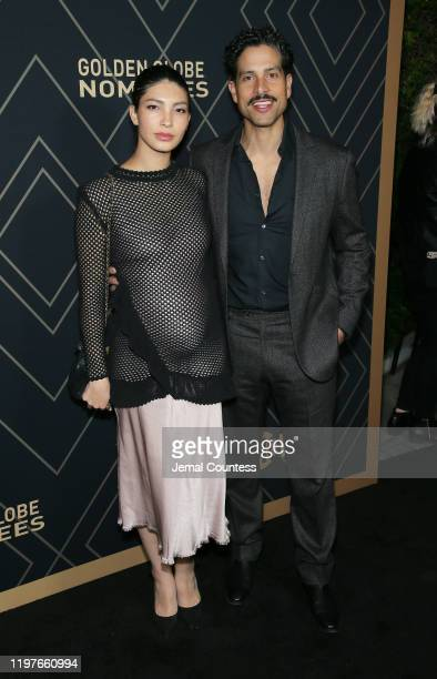 Adam Rodriguez and wife Grace Gail attend the Showtime Golden Globe Nominees Celebration at the Sunset Tower Hotel on January 04 2020 in West...