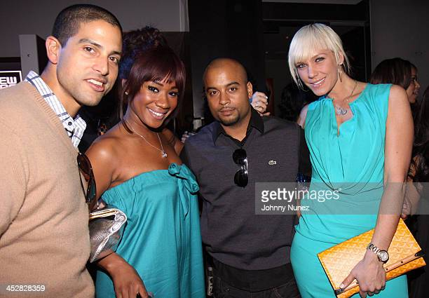Adam Rodriguez Danielle Crawley Jesse Terrero and April Roomet attend New Era 944 Magazine PreGrammy Party at Studio 944 on February 7 2009 in...