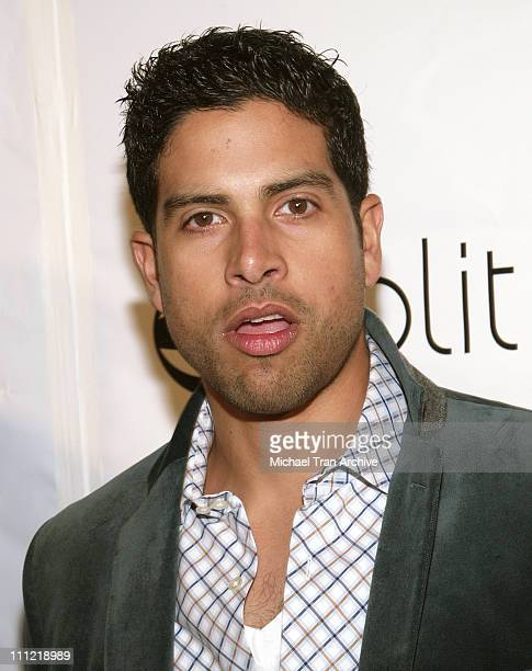 Adam Rodriguez during Benderspink Party for A History of Violence Arrivals at Aqua Lounge in Beverly Hills California United States