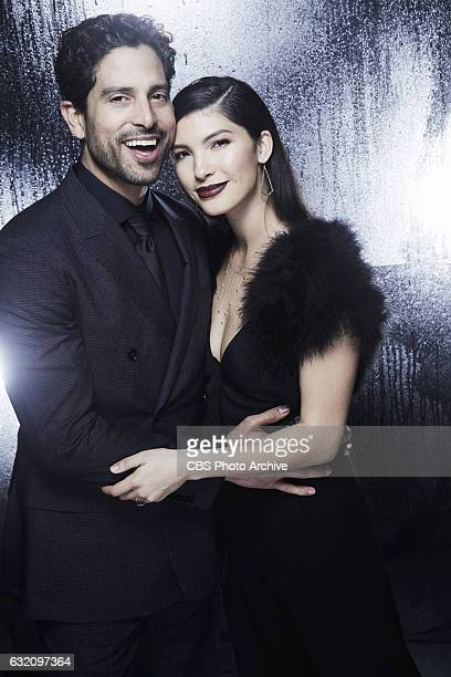Adam Rodriguez Grace Gail visit the CBS Photo Booth during the PEOPLE'S CHOICE AWARDS the only major awards show where fans determine the nominees...