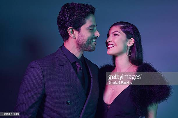 Adam Rodriguez poses with his wife Grace Gail for a portrait at the 2017 People's Choice Awards at the Microsoft Theater on January 18 2017 in Los...