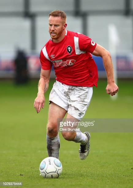 Adam Rooney of Salford City in action during the Vanarama National League match at Moor Lane on September 8 2018 in Salford England