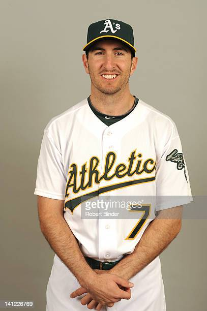 Adam Rosales of the Oakland Athletics poses during Photo Day on Monday February 27 2012 at Phoenix Municipal Stadium in Phoenix Arizona