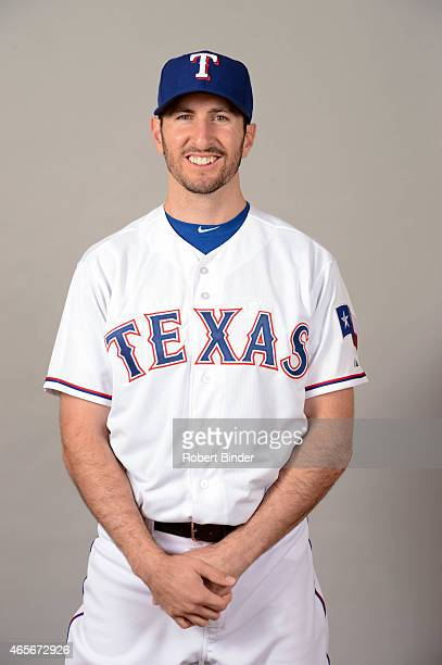 Adam Rosales of the Texas Rangers poses during Photo Day on Monday March 2 2015 at Surprise Stadium in Surprise Arizona