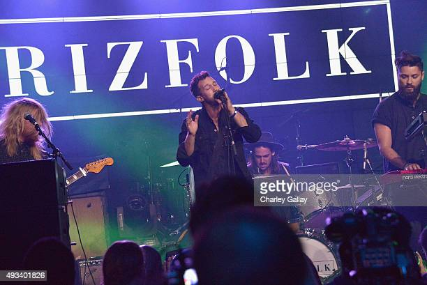 Adam Roth of Grizfolk performs onstage during Activision's Guitar Hero Live launch party in Los Angeles on October 19 2015