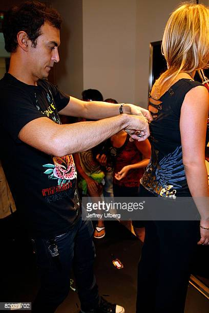 Adam Saaks attends the Christian Audigier in store appearance at Nordstrom Garden State Plaza on July 22 2008 in Paramus New Jersey