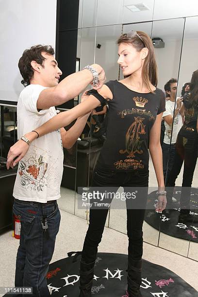 Adam Saaks of Ed Hardy and Anna Bilic at Ed Hardy during Primary Action 2007 Golden Globe Suites Day 3 at Private Residence in Los Angeles California...