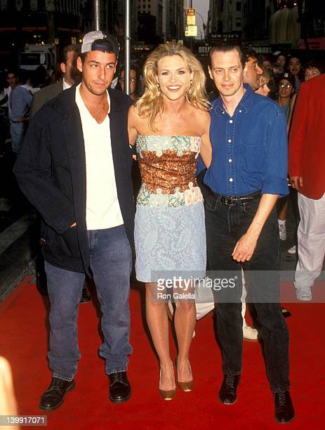 Adam Sandler Amy Locane and Steve Buscemi at the Premiere of 'Airheads' 57th Street Playhouse New York City