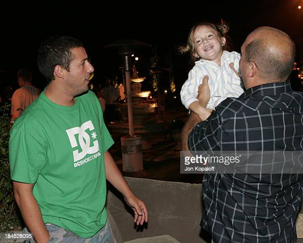 Adam Sandler and Adam Venit during 2004 PreEmmy Party Hosted By Endeavor Agency at Private Residence in Beverly Hills California United States