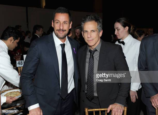 Adam Sandler and Ben Stiller attend The 2017 IFP Gotham Independent Film Awards cosponsored by FIJI Water at Cipriani Wall Street on November 27 2017...